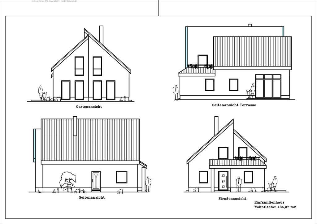 Architektenhaus - Ansicht 134,37m²