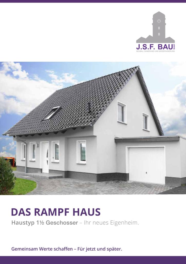 JSF Bau GmbH - Broschüre 1,5-Geschosser - Ansicht Flyer