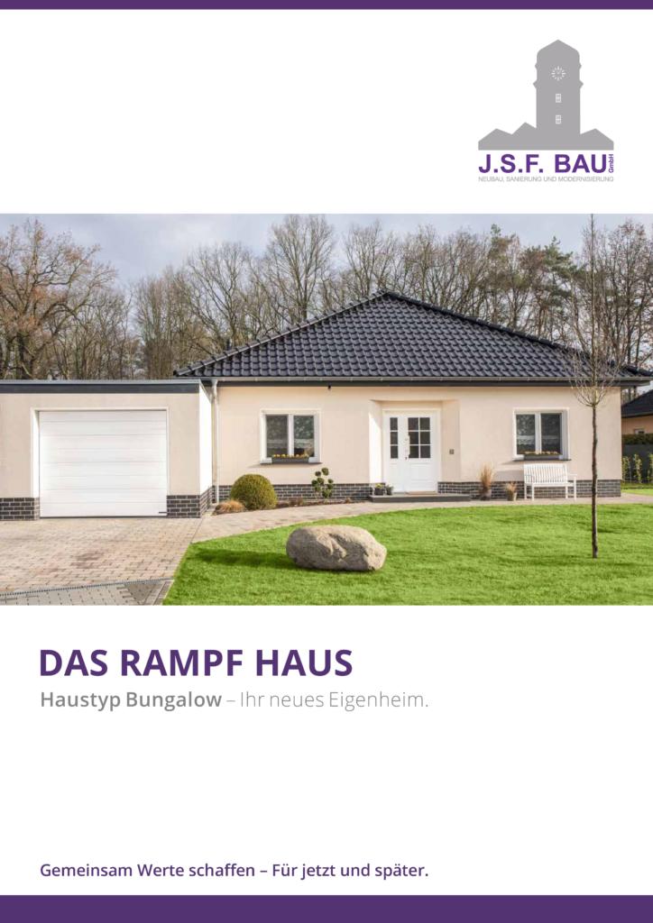 JSF Bau GmbH - Broschüre Bungalow - Ansicht Flyer