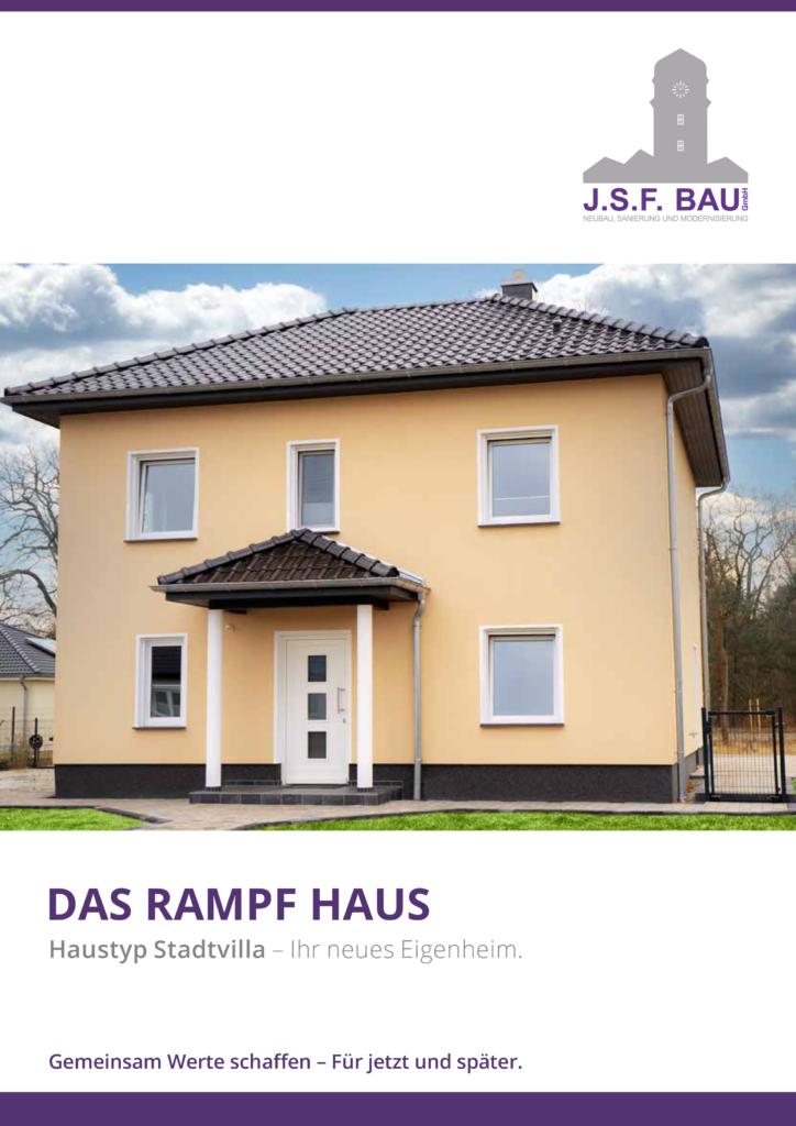 JSF Bau GmbH - Broschüre Stadtvilla - Ansicht Flyer
