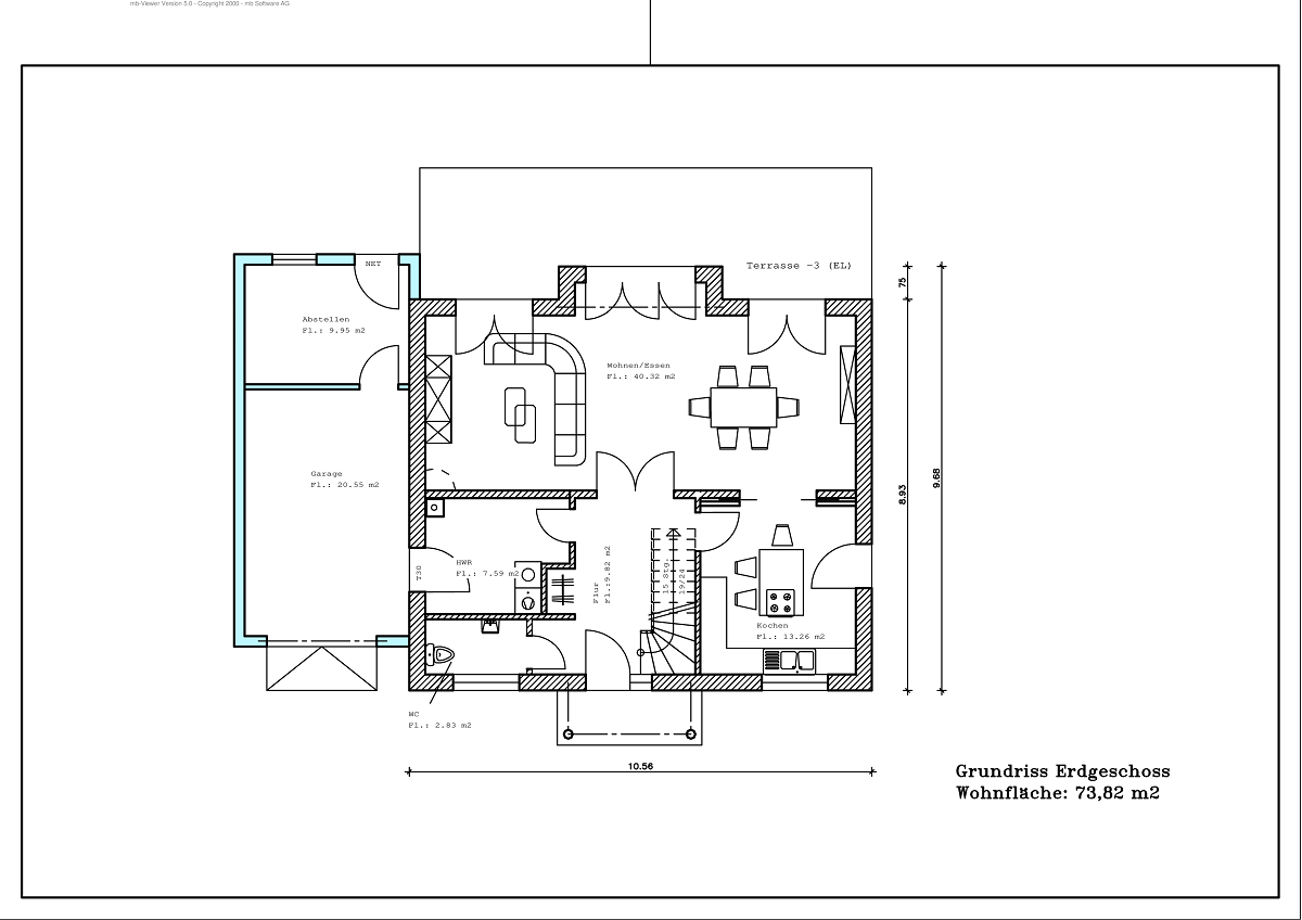 Stadtvilla - Grundriss EG 147,14m²